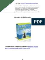 Spiritual Courses Alternative Healing