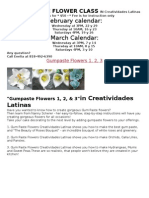 Gum Paste Flower Class in Creatividades Latinas 2012