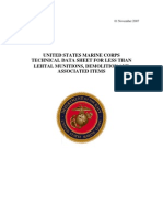 55435064 USMC Technical Data Sheet for Less Than Lethal Munitions Demolition Associated Items USA 2007
