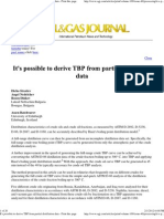 It's Possible to Derive TBP From Partial Distillation Data - Print This Page