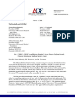 ALLIANCE DEFENSE FUND Demand Letter REGARDING CARYN DUTTON, M.D. AND PLANNED PARENTHOOD IN WISCONSIN