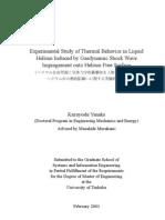 Kazuyoshi Yanaka- Experimental Study of Thermal Behavior in Liquid Helium Induced by Gasdynamic Shock Wave Impingement onto Helium Free Surface