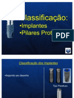 classificação e tipos de implantes