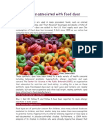 Dangers Associated With Food Dyes