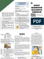 Church Newsletter - 05 February 2012