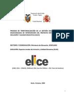 Proceso de territorialización educativa en pareas seleccionadas ELICE