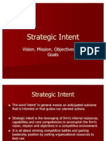 Unit I - Strategic Intent - Vision, Mission, Objectives & Goals