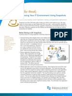 Enhancing Your IT Environment Using Snapshots