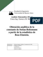 AM3 Murmis Monografía - Obtención analítica de la constante de Stefan-Boltzmann a partir de la estadística de Bose-Einstein