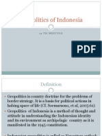 Geopolitics of Indonesia. 11th Meeting