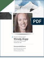Wendy Kopp is Documented@Davos Transcript