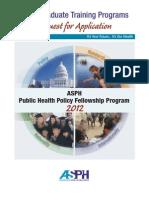 Public Health Policy RFA
