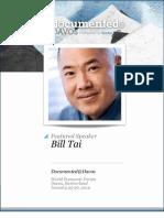 Bill Tai of Charles River Ventures Transcript
