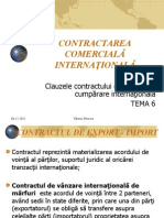 Contractarea comerciala internationala