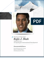 Rajiv Shah is Documented@Davos Transcript