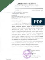 Edaran Pemberlakuan Permendiknas No 30 Th 2011