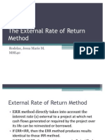 The External Rate of Return Method