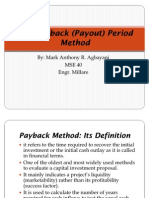 The Payback (Payout) Period Method Presentation