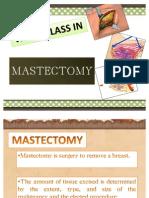 Mastectomy Wardclass