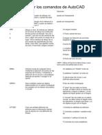Completa comandos de AutoCAD español