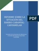 INFORME SOBRE LA SITUACIÓN DEL CABANYAL - UNIVERSIDAD DE VALENCIA