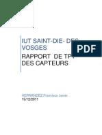 Report Capteurs