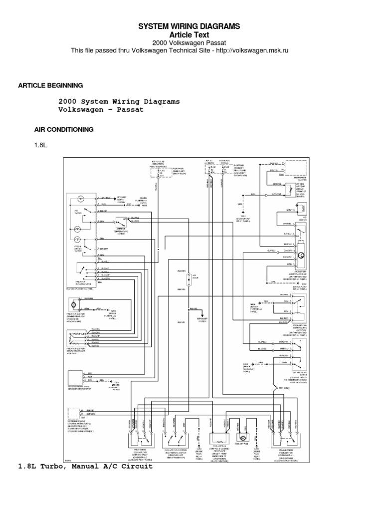 [DVZP_7254]   Passat B5 Wiring Diagram | 1998 Volkswagen Passat Wiring Diagram |  | Scribd