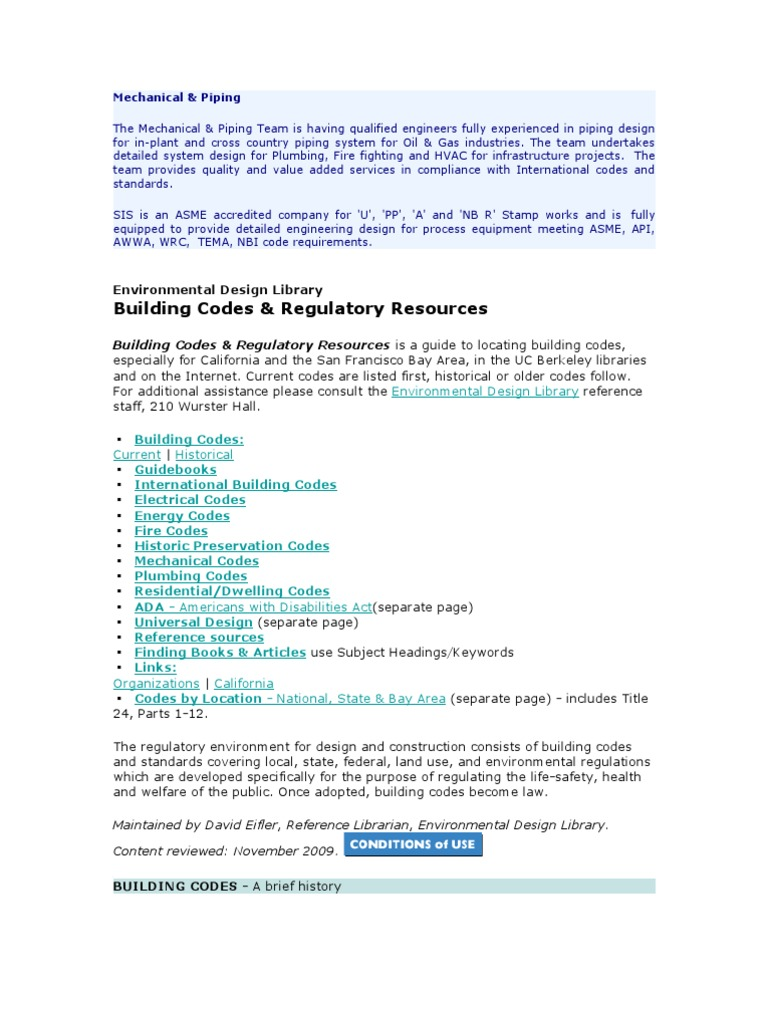 Codes Plumbing | Building Code | Building Technology