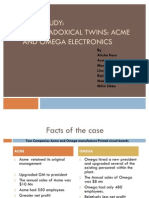 OB Case Study - Paradoxical Twins