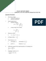 Review Exam 1 2011