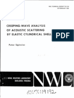 Creeping-wave Analysis of Acoustic Scattering by Elastic Cylindrical Shells