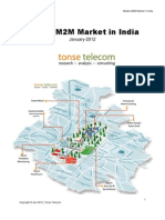 Tonse Telecom Mobile M2M Market in India Brochure Jan 2012