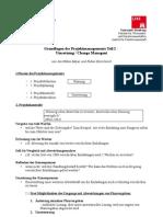 Handout Projektmanagement