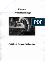 Critical Reading Extracts English Literature