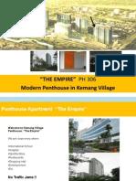 Kemang Village Penthouse  P306 for rent apartment