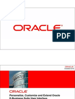 Personalize, Customize, and Extend Oracle E-Business Suite User Interface