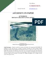Feb 12 - Hockney on Paper at Christie's