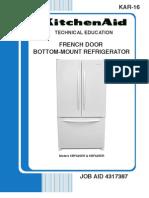 Whirlpool KAR-16 French Door Bottom Mount Refrigerator Service Manual