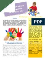 La Importancia del juego en el desarrollo infantil