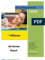 Ad Review Report