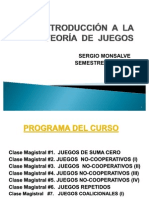 CURSO DE TEORÍA DE JUEGOS I
