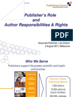 Author Responsibilities and Rights