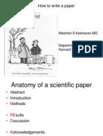 The Anatomy of a Scientific Paper - Matcheri S. Keshavan