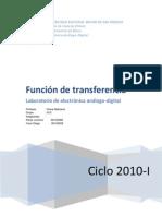 Funcion Fe Transfer en CIA Lab 4