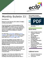 ecdp Email Bulletin 33