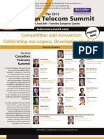 The 2012 Canadian Telecom Summit brochure