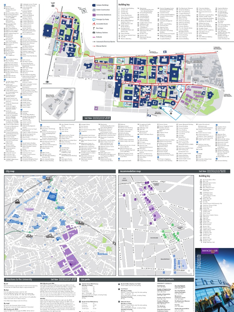 Campus Map | Manchester | Road Transport