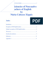 The Deficiencies of Non-Native Teachers of English