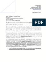 Carta a Hon. Jenniffer González - PC 2630