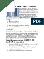 CÓDIGO DE BARRAS para Guatemala